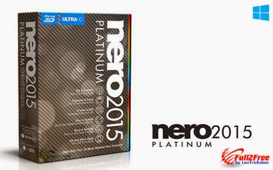 Nero 2015 Platinum 16.0.02900 + Crack + Content Pack