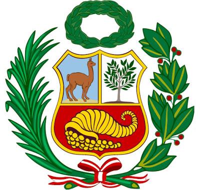 Dibujo del Escudo de Armas del Perú o Escudo Peruano