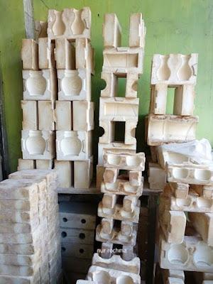 cetakan keramik dari gipsum