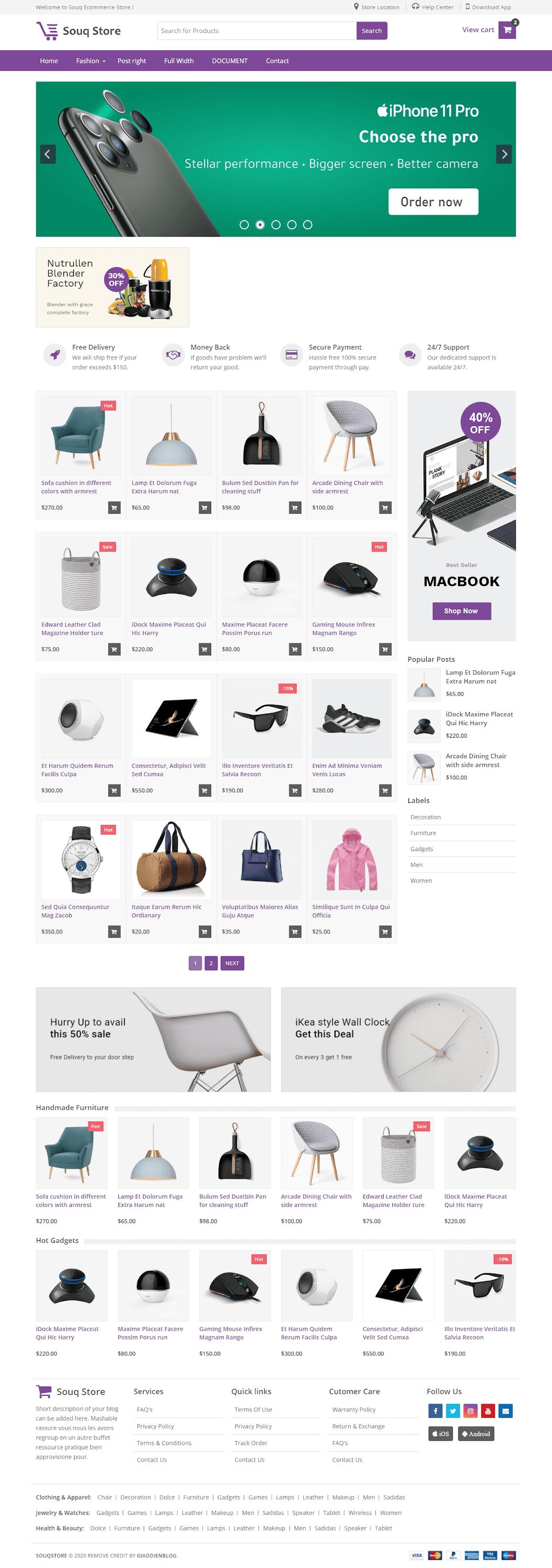 Template blogspot bán hàng thiết bị công nghệ điện tử