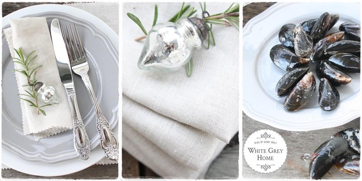white grey home weinachtsmen hauptgang miesmuscheln in wei weinso e. Black Bedroom Furniture Sets. Home Design Ideas