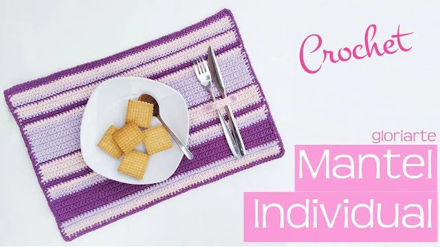 Mantel Individual a Crochet