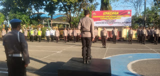 Kapolres Pangkep Pimpin Upacara PTDH