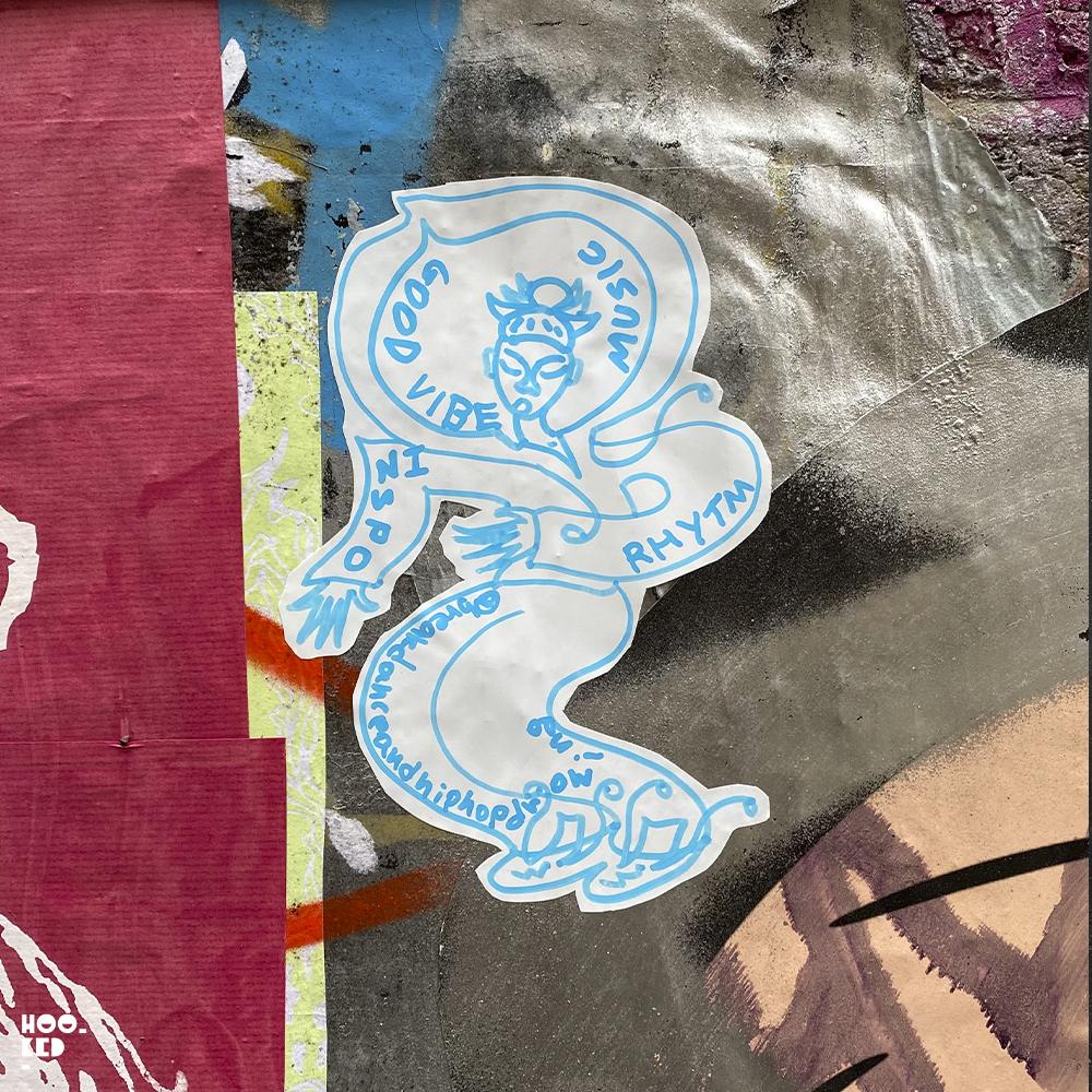 England - London street art stickers - artist unknown