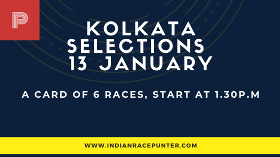 Kolkata Race Selections 13 January