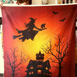 Hoffman Halloween panel for sale at More Sewing