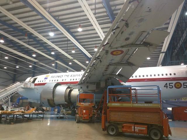 Primera inspección tipo C del T.22 (A310) en instalaciones del Ejército del Aire
