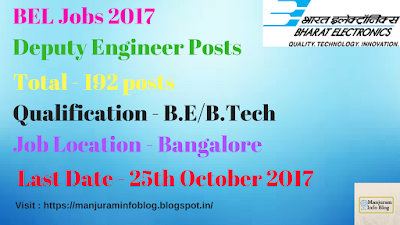 BEL Recruitment 2017