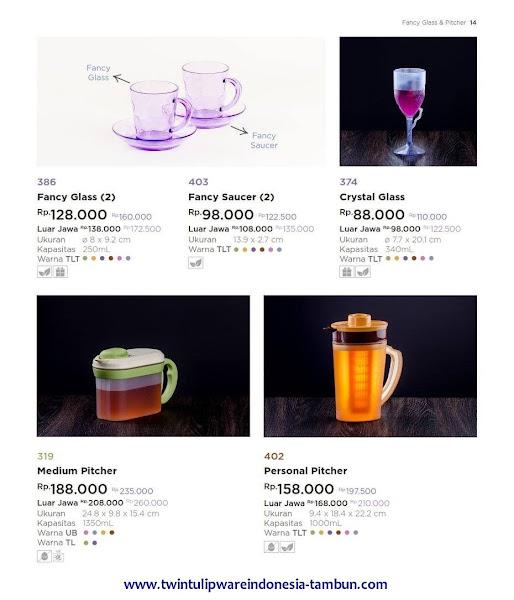 Fancy Glass Saucer, Crystal Glass, Medium Personal Pitcher