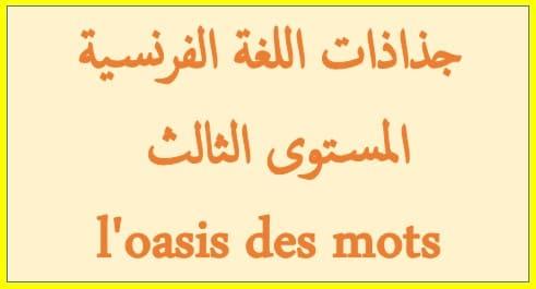 جذاذات اللغة الفرنسية المستوى الثالث l'oasis des mots