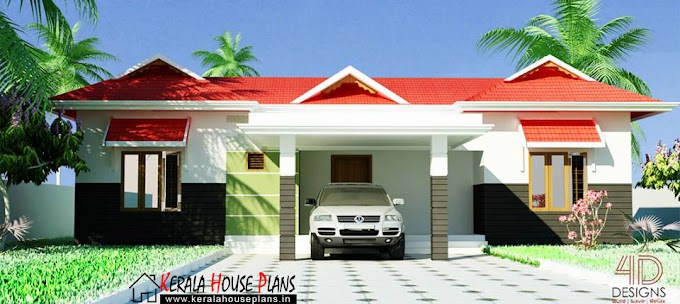 Kerala budget house plans With Elevation