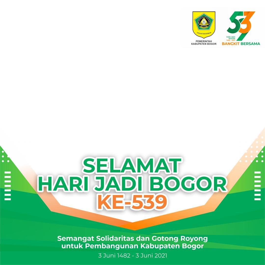 Desain Bingkai Twibbon Ucapan Selamat Hari Jadi Kabupaten Bogor 2021 - Twibbonize