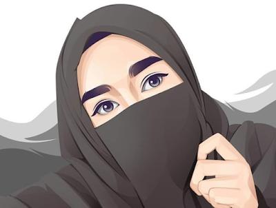 1001 Gambar kartun muslimah cantik