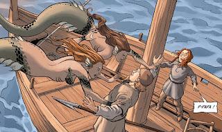 Sirènes & Vikings tome 2 - le père de Freydis attaqué par des sirènes