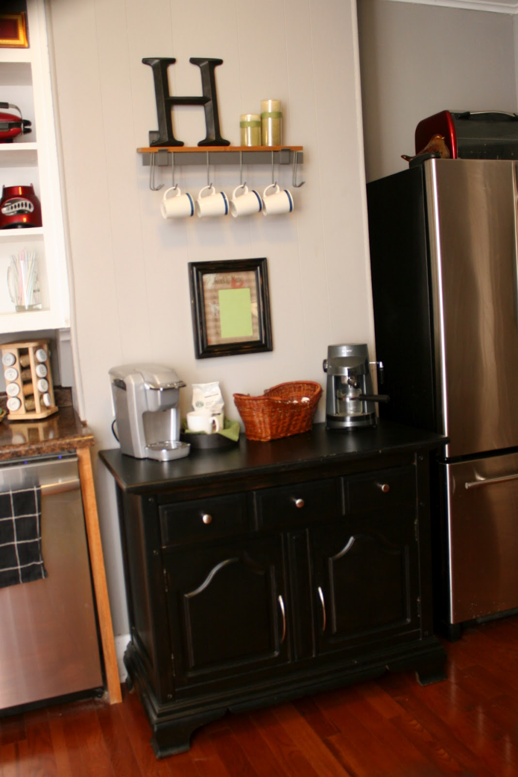 Coffee Bar In Kitchen Cart Table My Totally Simple Life Kithcen Project