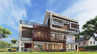 รับออกแบบบ้าน3ชั้น เจ้าของอาคาร คุณเอกมณี ตุลาธร ต.คึกคัก อ.ตะกั่วป่า จ.พังงา
