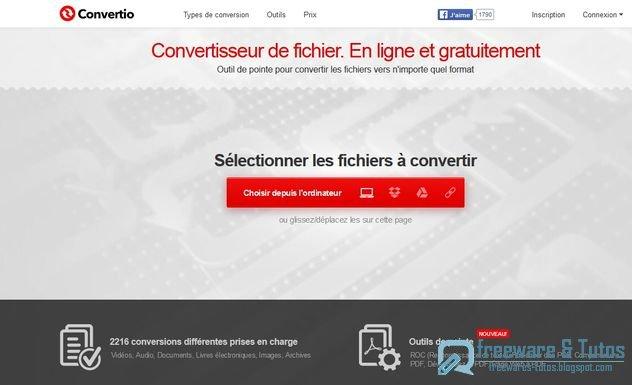 Convertio : nouvelle version de ce convertisseur de fichiers en ligne