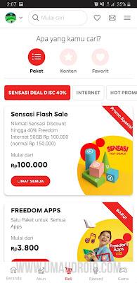 Flash Sale Paket Indosat di MyIM3