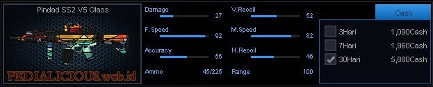 Detail Statistik Pindad SS2 V5 Glass