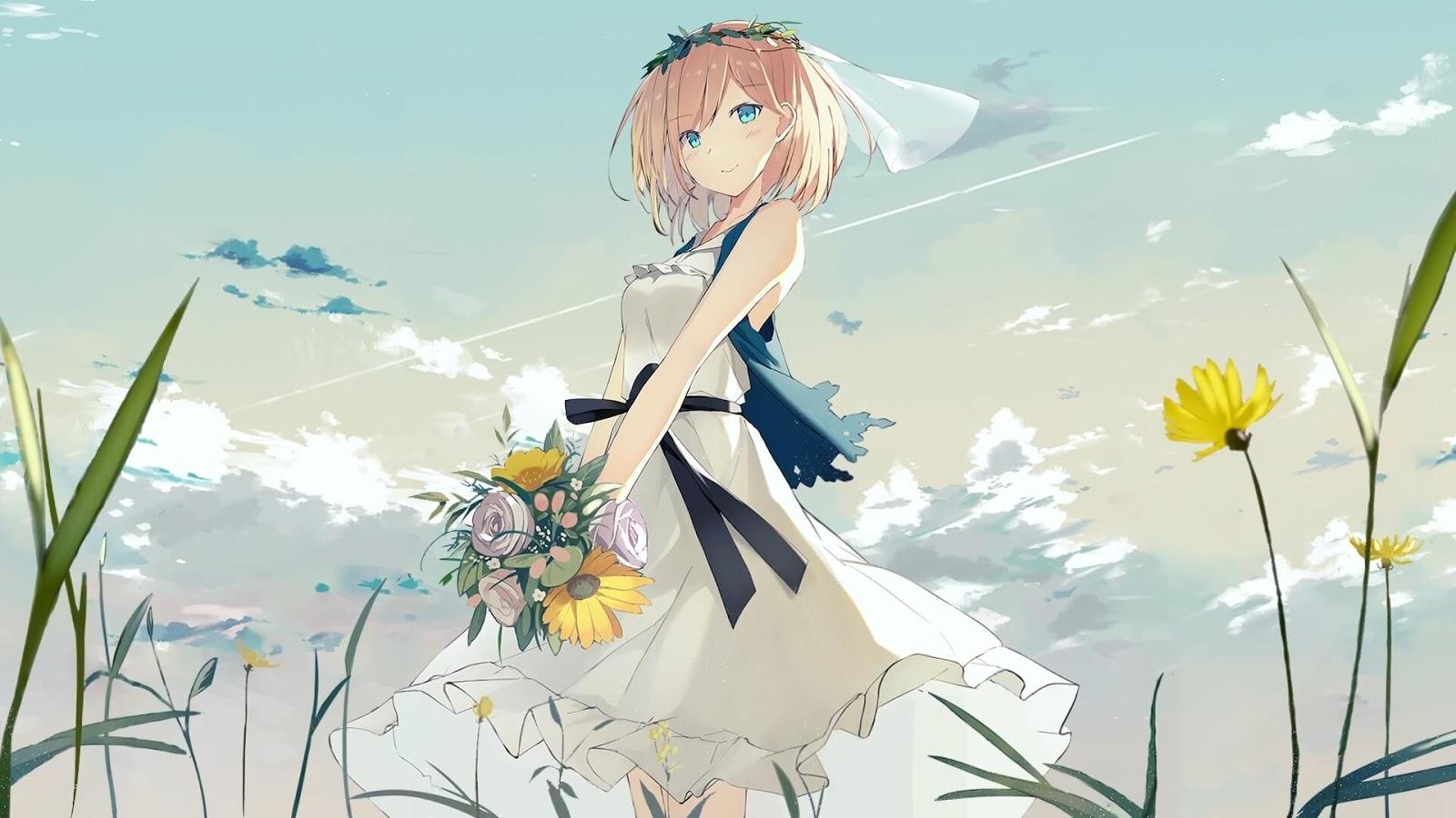 Flower and Girl [Wallpaper Engine Anime]