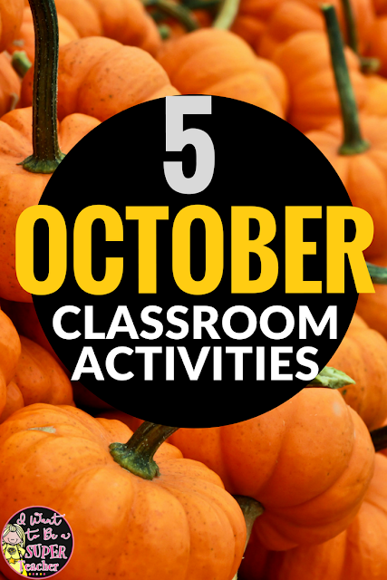 Halloween ideas and activities you can use in the elementary classroom in October. Halloween art, October read alouds, teacher costumes, and free printables. These activities would work well for 1st, 2nd, 3rd, 4th, or 5th grade kids.