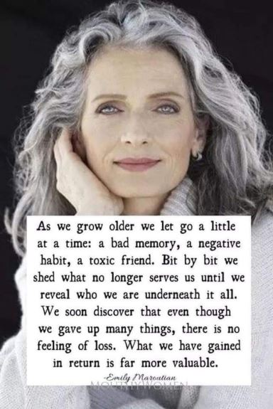 As we grow older we let go a little at a time - slowly shedding all the unnecessary parts of our lives. #lifequotes