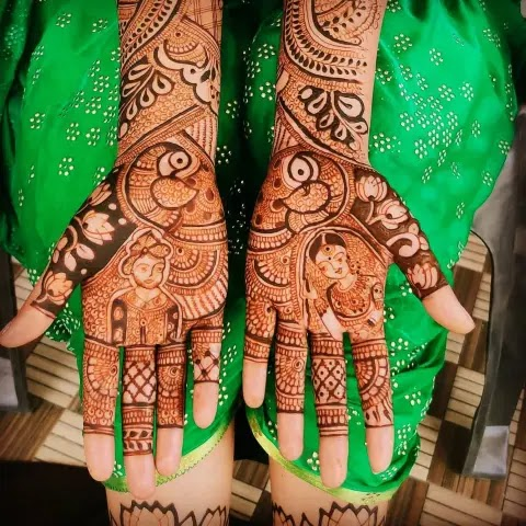 king-queen-chauth-mehndi