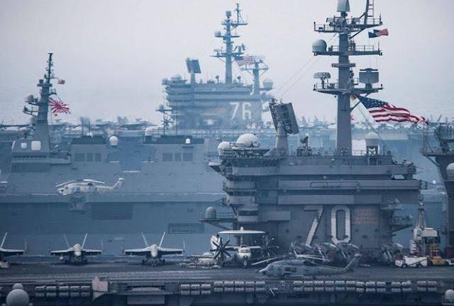 Mỹ đưa hai tàu sân bay đến Biển Đông