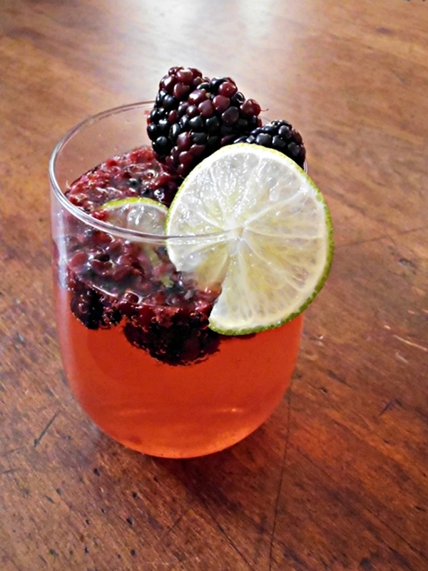 Blackberry Lime Cocktail