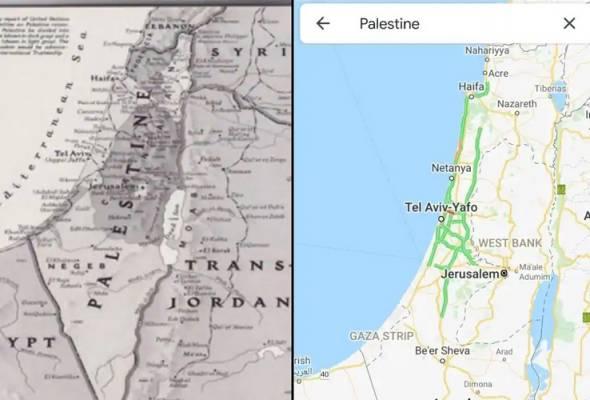 PALESTIN LENYAP DARIPADA GOOGLE MAPS?