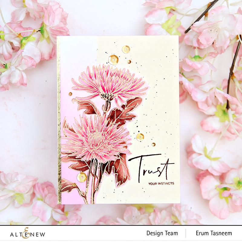 Altenew Paint-A-Flower: Spider Mums + Alcohol Markers | Erum Tasneem | @pr0digy0