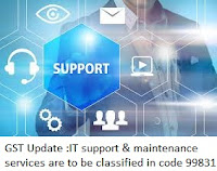 IT support & Maintenance services are to be classified in code 99831