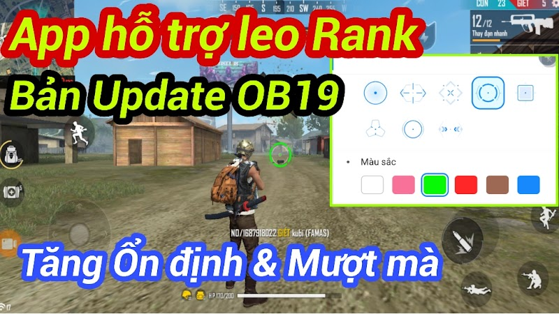 Update Ứng dụng Hỗ trợ Leo Rank Free Fire OB19 Mới nhất│Cải thiện các tính năng│Tăng tốc và Fix lỗi