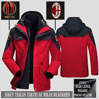 Jual Jaket Gunung Hoodie Waterproof Taktis AC Milan Murah