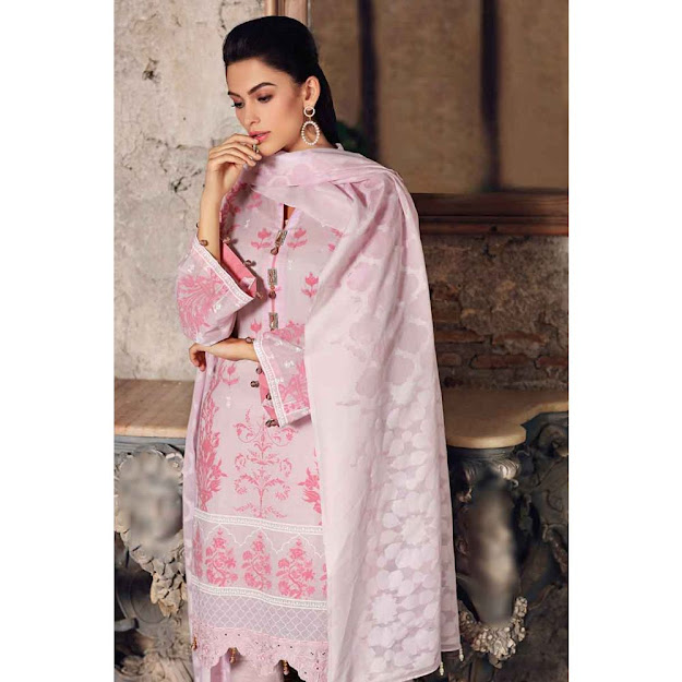 Gul Ahmed light pink lawn eid collection