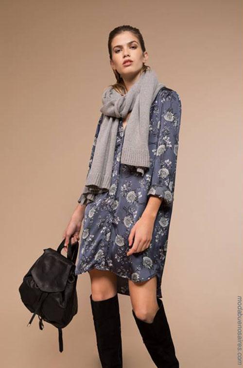 Moda vestidos 2018. Moda invierno 2018.