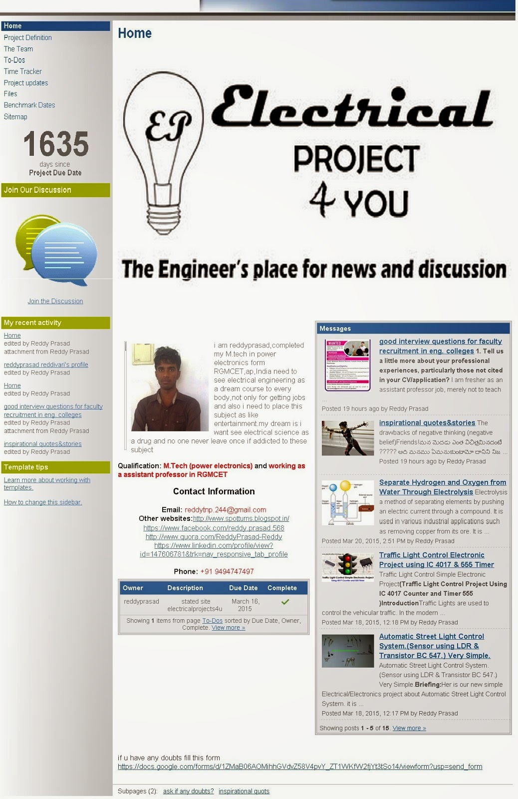 Welcome To Electrical Projects4u Website Projects 4 U And Electronics For By Reddyprasad Reddivari