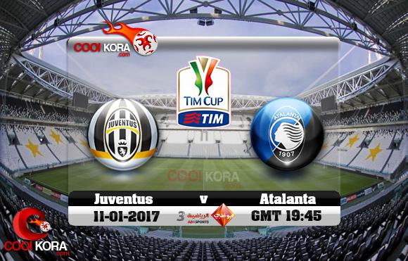 مشاهدة مباراة يوفنتوس وأتلانتا اليوم 11-1-2017 في كأس إيطاليا