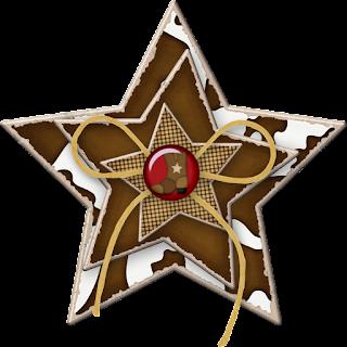 Clipart de Estrellas para Fiesta Country o Cowboy.
