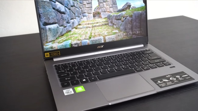 Acer Swift 3 gray laptop to buy under ₹60000 in India
