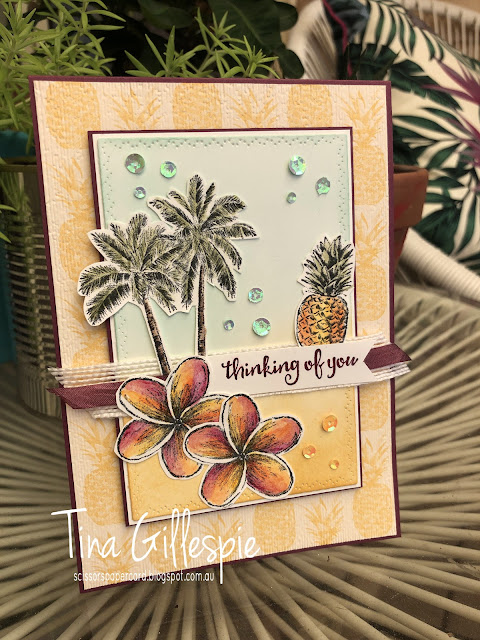 scissorspapercard, Stampin' Up!, Art With Heart, Mother's Day, Timeless Tropical, Timeless Tulips, Beautiful Day, Tropical Oasis DSP, Nature's Thoughts Dies, Subtle 3DEF