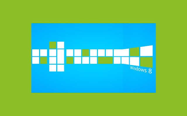 Groen blauwe Windows 8 wallpaper
