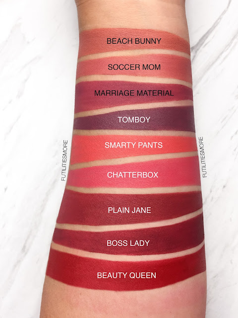 MAKEUP GEEK PLUSH MATTE  LIP SWATCHES AND REVIEW (FULL COLLECTION) , futilitiesmore, futilitiesandmore, futilities and more