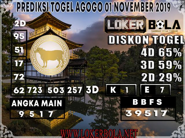 PREDIKSI TOGEL AGOGO LOKERBOLA 01 NOVEMBER 2019