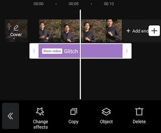 set duration of glitch effect