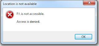 Error saat akses USB Storage