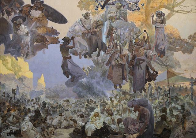 Альфонс Муха - Славянский эпос. Праздник Свентовита, 1912