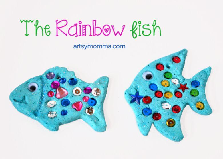 Salt dough ideas - rainbow fish craft