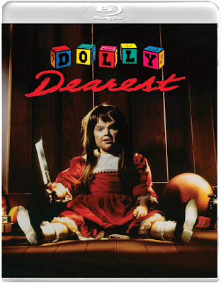 Cover art for Vinegar Syndrome's new Blu-ray release of DOLLY DEAREST!