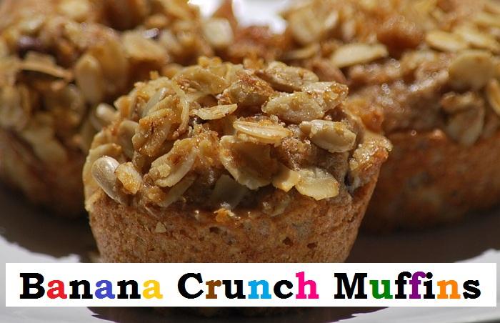 Easter Recipes : Banana Crunch Muffins